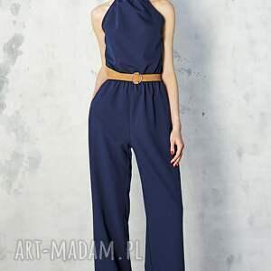 Kasia Miciak design ubrania: Granatowy kombinezon - ponadczasowy elegancki