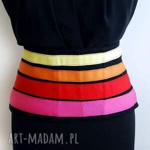 handmade ubrania gorset kolorowy w paski