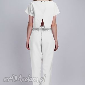 eleganckie ubrania kombinezon kombinezon, kb102 ecru