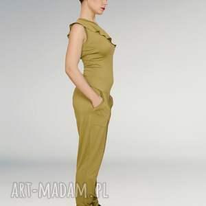 ubrania greenery kombinezon z falbanką