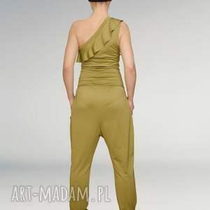 unikalne ubrania greenery kombinezon z falbanką