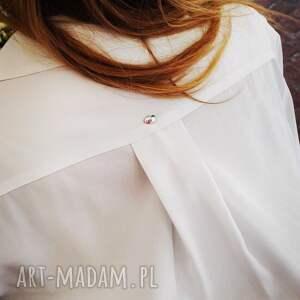 unikalne ubrania uniwersalna koszula długa // lunga bianco