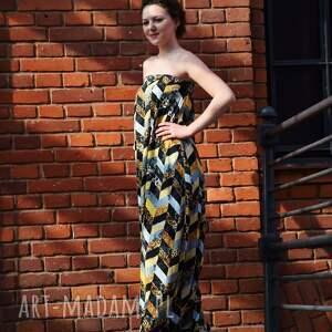 eleganckie ubrania designerski wyjątkowy kombinezon, maxi spódnica
