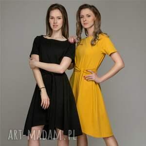 gustowne ubrania sukienka trapeze mustard |