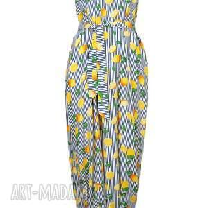 lato ubrania żółte wyjątkowy kombinezon, maxi