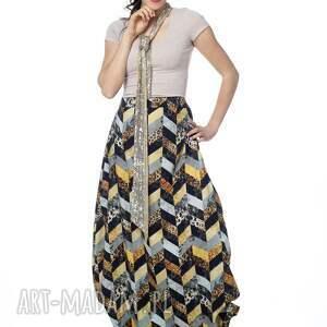 designerski ubrania wyjątkowy kombinezon, maxi spódnica