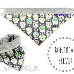 modne ubranka apaszka minky czaszki silver chusta