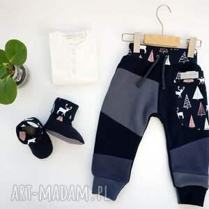 pomysł na upominki święta niebieskie baby shower set jelonki ii (spodnie