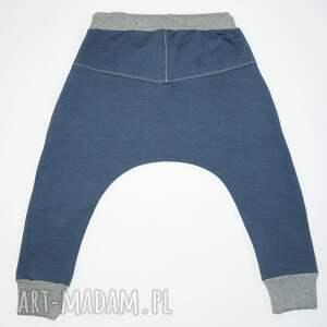 unikatowe ubranka spodnie baggy blue