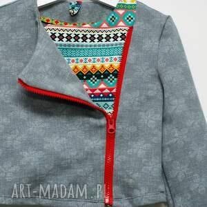 szare ubranka bluza bawełniana ramoneska