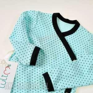 niebieskie ubranka body bawełniane niemowlęce