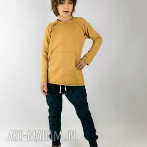 atrakcyjne bluza basic musztardowa