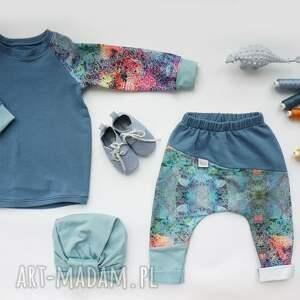 turkusowe bluza dresowa dla dziewczynki lato 104 -128