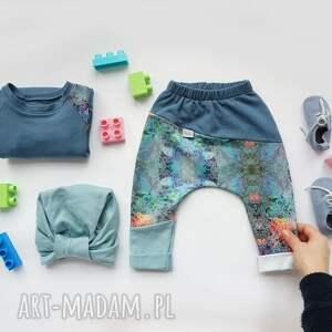 Bluza dla dziewczynki LATO 104 -128 cm - błękitna dresowa
