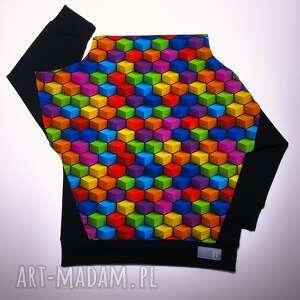 unikalne bluza dziecięca kostka komin