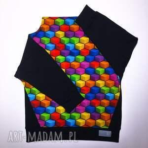 kolorowe bluza dziecięca kostka komin