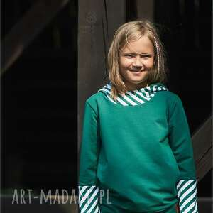 dziecięca bluza dziewczęca z kapturem  
