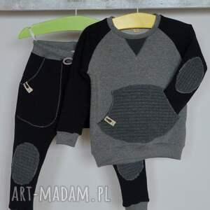 unikalne ubranka dziecko bluza szaro-czarna