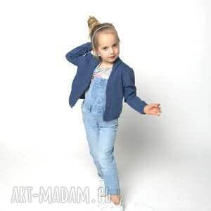 oryginalne ubranka kurtka bomberka jeansowy melanż