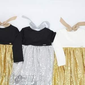 cekiny ubranka złote sukienka zlota ecru z cekinami