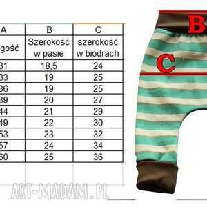 atrakcyjne niebieskie spodnie 56 -116 ciasteczkowy potwór