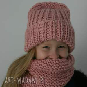 frapujące czapka ciepły wełniany komplet i