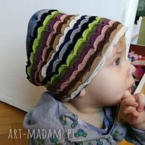 hand made czapka dziecięca dzianina wełniana