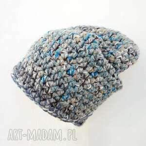 ręczne wykonanie ciepła czapka hand made no. 023 /
