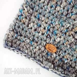 ciepła niebieskie czapka hand made no. 023 /