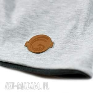 komin ubranka czapka i ciepły komplet szary