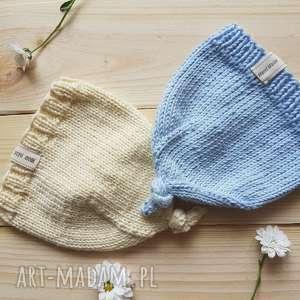 ręcznie wykonane ubranka niemowle czapka
