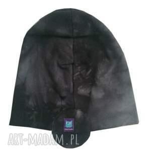 szare czapka pilotka, uszatka, 2 rozmiary