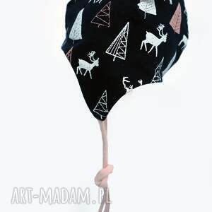unikalne ubranka bawełna czapka pilotka wiązana - jelonki
