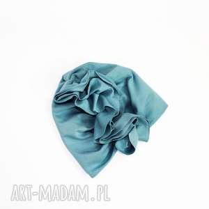turban ubranka różowe z podwojnej bawelny