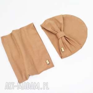 chustka czapka z kokarda i chusta