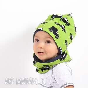 autka czapka zielone