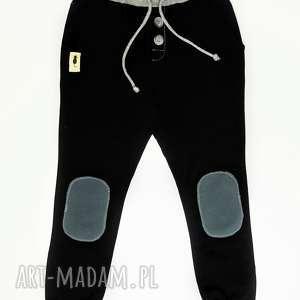 Czarne spodnie typu jogger - handmade joggery