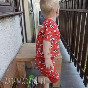 hand made pumpy czerwone piłki krótkie spodenki