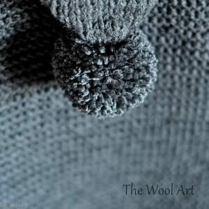 ubranka wełniany długi sweter z kapturem