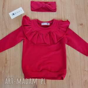 różowe ubranka bluza dres dla dziewczynki z falbankami