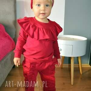 ubranka falbanki dres dla dziewczynki z falbankami