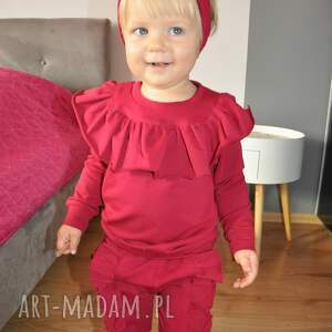 falbanki ubranka dres dla dziewczynki z falbankami
