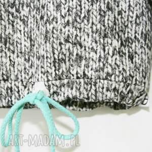ręcznie wykonane print dresik - sweterkowy