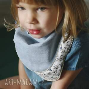 dziecko dwustronna chustka błękitna