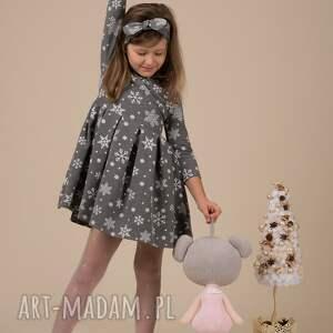 świąteczne prezenty wigilia dziecięca sukienka śnieżynka