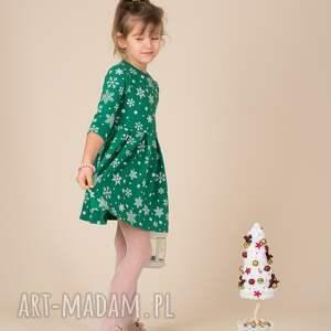 święta prezenty śnieżynki dziecięca sukienka śnieżynka