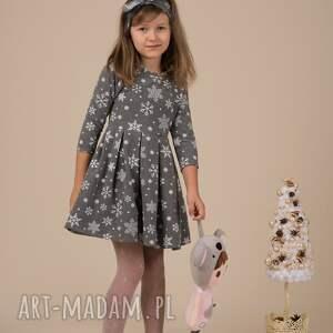 świąteczne prezenty śnieżynki dziecięca sukienka śnieżynka