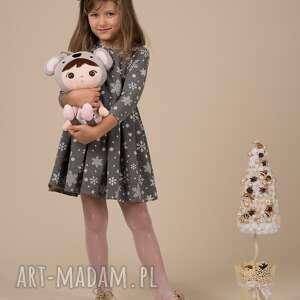 świąteczne prezenty dziecięca sukienka śnieżynka