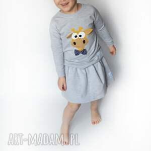 pomarańczowe ubranka żyrafa bluza
