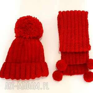 szalik handmade dziecięcy komplet wełniany